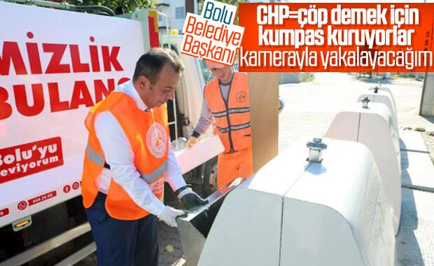 Bolu'da konteyner dışına çöp atanlar tespit edilecek