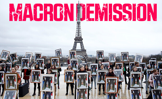 Fransızlar Macron'un istifasını istiyor