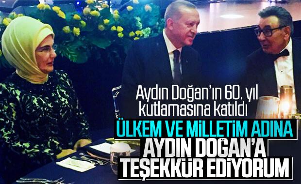 Cumhurbaşkanı Erdoğan'dan Aydın Doğan'a teşekkür
