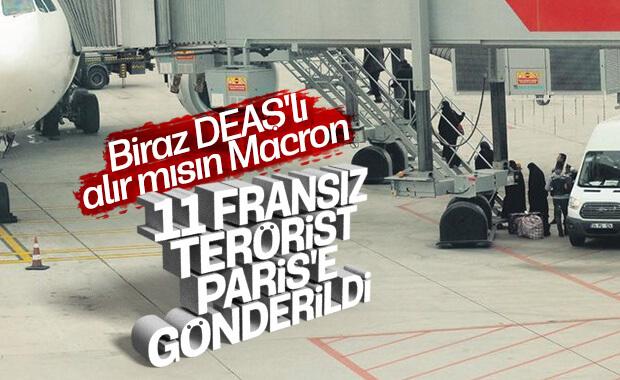 İçişleri Bakanlığı 11 Fransız DEAŞ'lıyı gönderdi