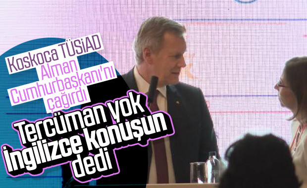 TÜSİAD konferansa çevirmen çağırmadı