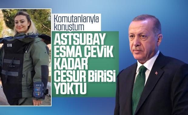 Cumhurbaşkanı Erdoğan, şehit Esma Çevik'i andı