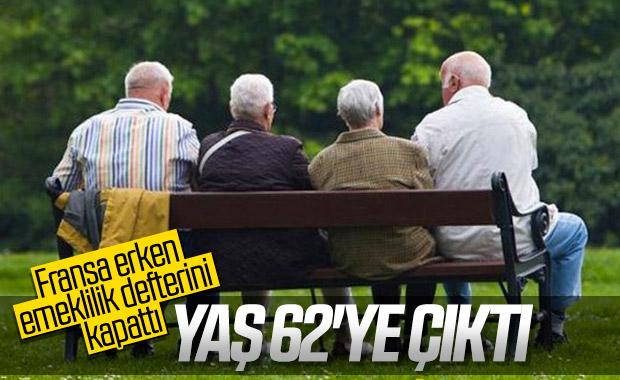 Fransa'da emeklilik yaşı 62 oldu