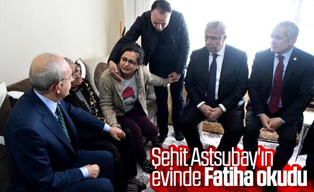 Kılıçdaroğlu şehit ailesini ziyarete gitti