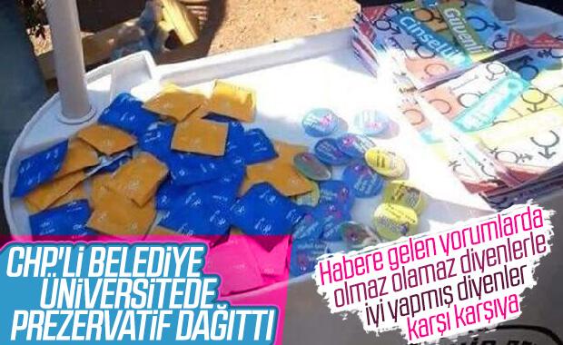 CHP'li belediye üniversitelilere prezervatif dağıttı