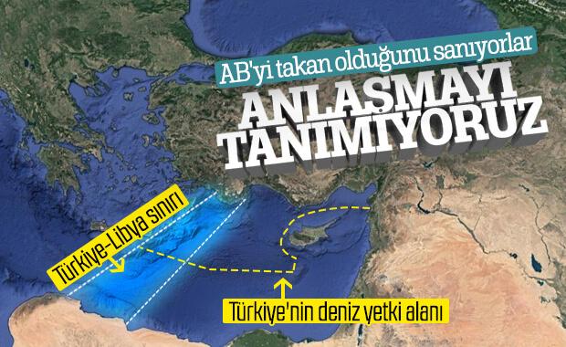 AB, Türkiye'nin Libya ile yaptığı anlaşmayı tanımadı