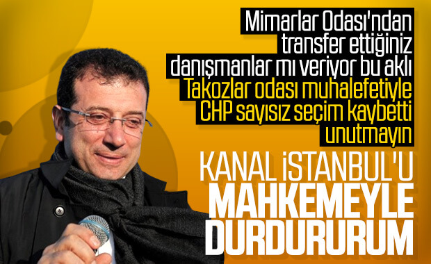 Ekrem İmamoğlu, Kanal İstanbul'u mahkemeye taşıyabilir