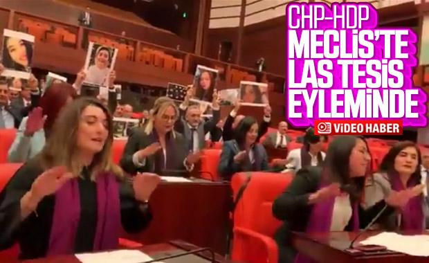 CHP'li ve HDP'li kadın vekillerden Las Tesis eylemi