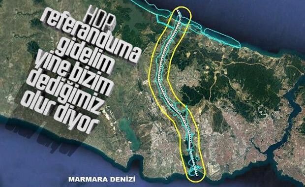 HDP'den Kanal İstanbul için referandum çağrısı