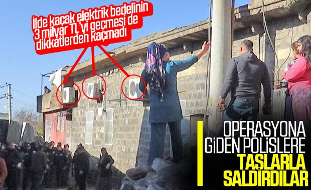 Diyarbakır'da polislere tarihi taşlarla saldırı