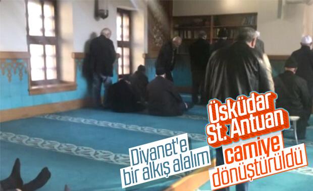 Ensonhaber yazdı, camideki oturaklar kaldırıldı