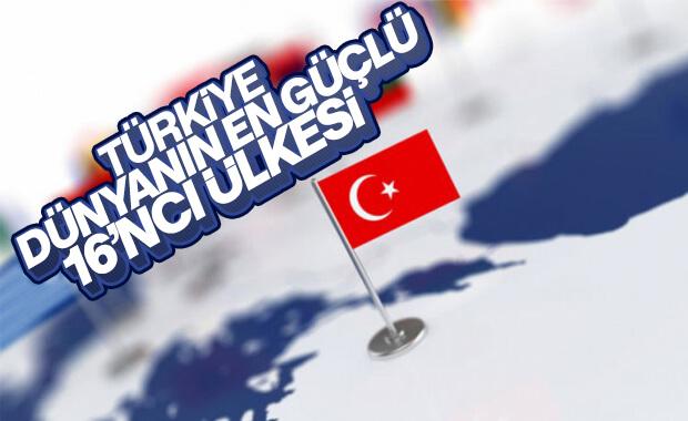 Türkiye dünyanın güçlü ülkeler listesinde 16'ncı sırada