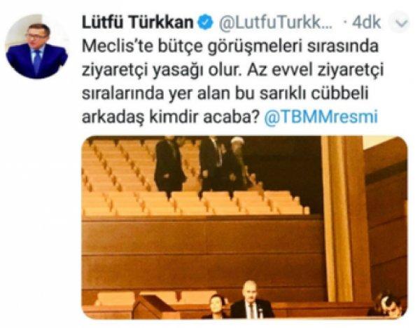 Lütfü Türkkan'ın silmek zorunda kaldığı tweet