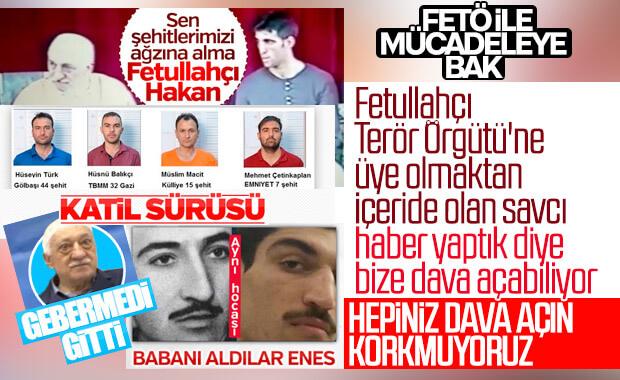 FETÖ'den tutuklu Gültekin Avcı, Ensonhaber'e dava açtı