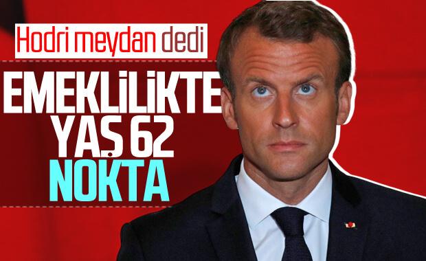 Macron emeklilik reformundan vazgeçmeyecek