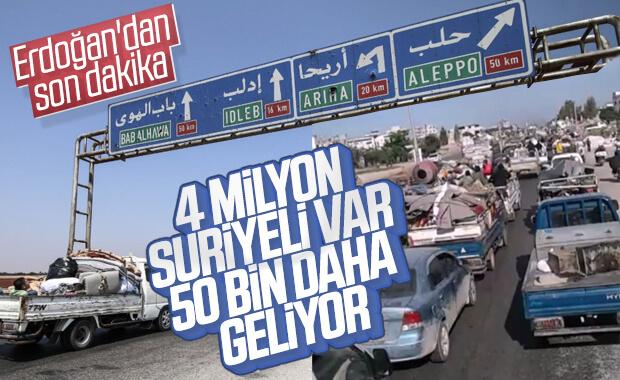 İdlib'den 50 bin mülteci Türkiye'ye geliyor