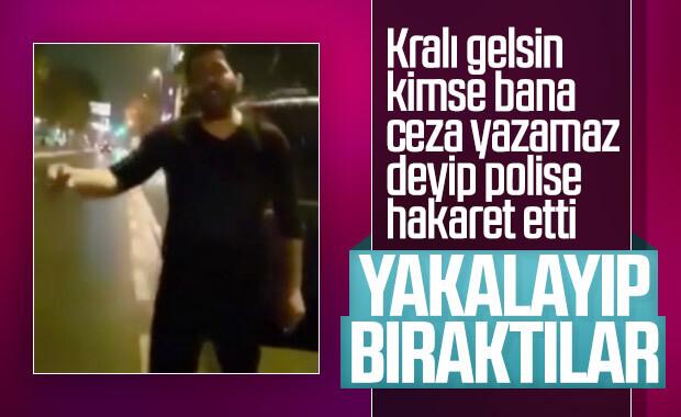 'Bana kimse ceza yazamaz' diyen sürücü gözaltına alındı