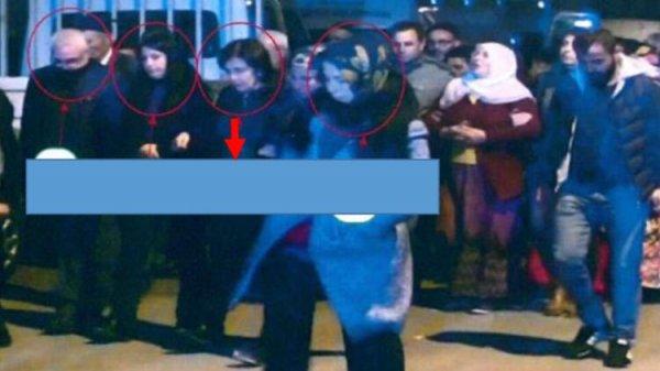 HDP'li başkanın terörist cenazesine katıldığı görüntüler