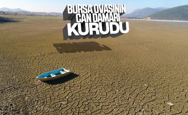 Bursa'da Gölbaşı kurudu