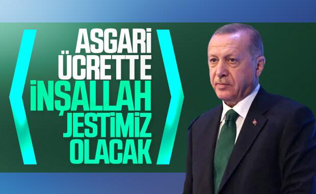 Cumhurbaşkanı Erdoğan asgari ücret konusunda konuştu