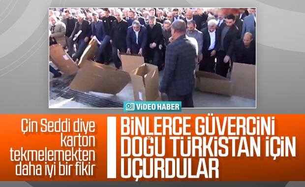 Şanlıurfa'da güvercinler Doğu Türkistan için uçuruldu