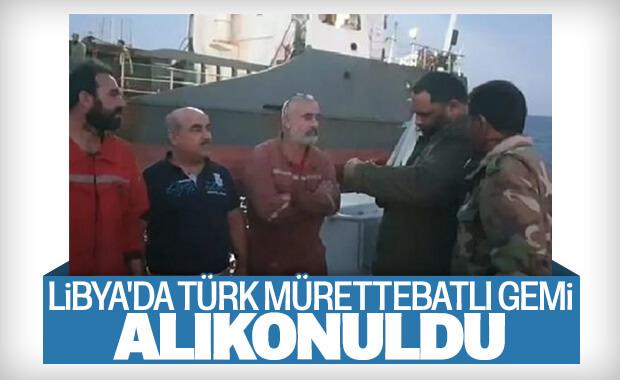 Libya'da Türk mürettebatlı gemiye müdahale