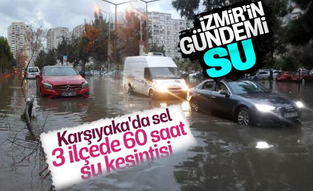 İzmir'de sel baskını ve su kesintisi