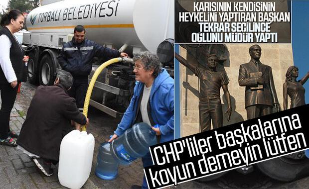 İzmir'de tankerle su dağıtımı