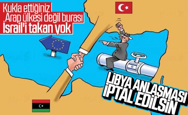 İsrail, Türkiye-Libya anlaşmasına karşı