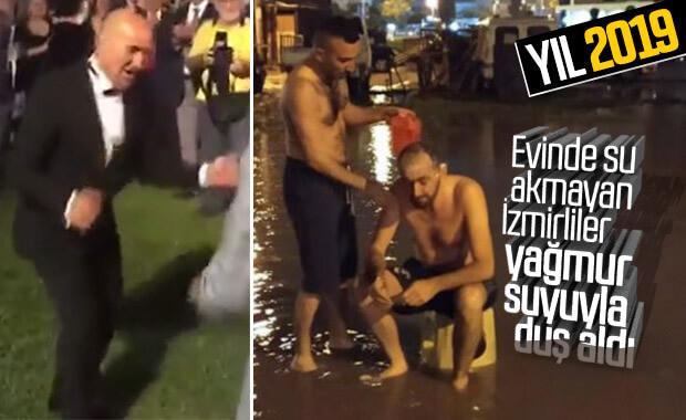 İzmir'de su kesintisinin açığını sağanakla kapattılar