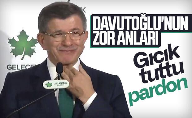 Ahmet Davutoğlu öksürmekten konuşamadı