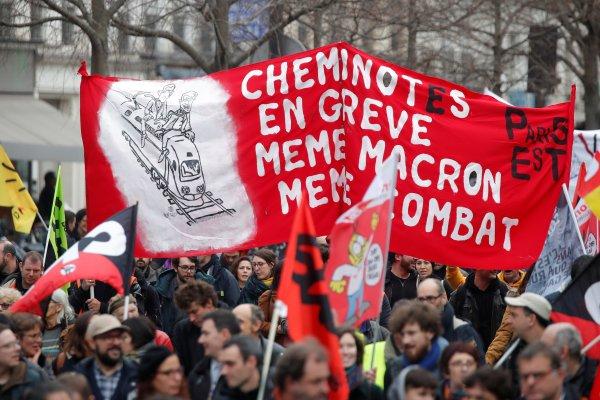 Fransa'da demir yollarının grev zararı 400 milyon euro