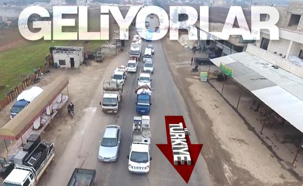 Suriyeliler İdlib'den kaçıyor