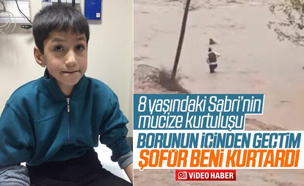 Sel sularına kapılan çocuk, yaşadıklarını anlattı