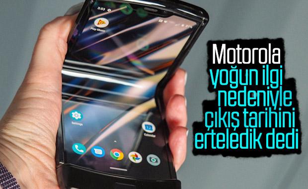 Motorola'nın katlanabilir telefonu Razr'ın çıkış tarihi ertelendi