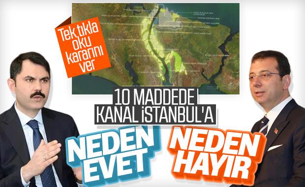 Kanal İstanbul'a 'evet' 'hayır' diyenlerin savundukları