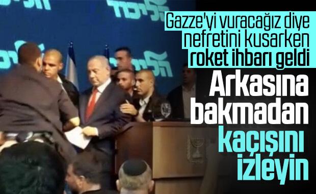 Netanyahu'yu kaçıran siren