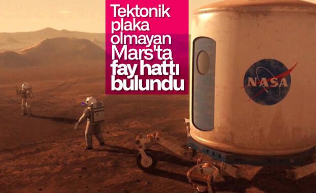 Mars'ta ilk defa aktif fay bölgesi tespit edildi
