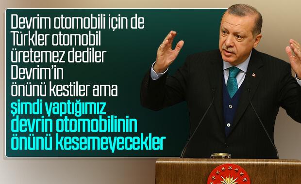 Cumhurbaşkanı Erdoğan yerli otomobil töreninde konuştu
