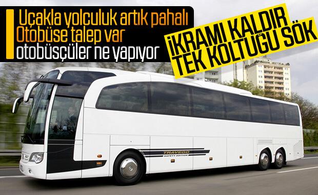 Otobüs firmaları hizmetleri kısmaya başladı