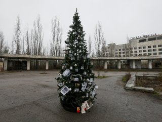 Çernobil'de 33 yıl sonra ilk Noel ağacı