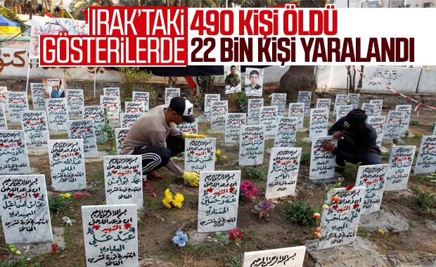 Irak'taki eylemlerde 490 kişi öldü 22 bin kişi yaralandı