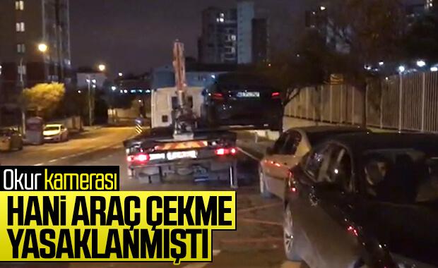 İstanbul'da yasağa rağmen araç çekimi durmadı