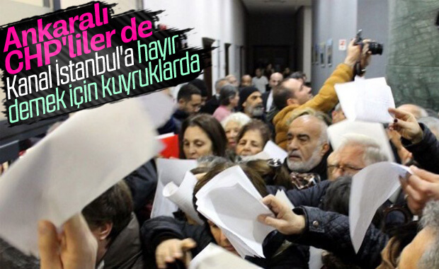 CHP Ankara'dan Kanal İstanbul'a hayır dilekçesi