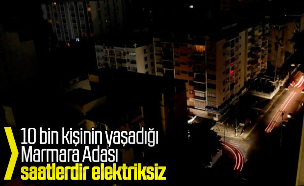 Marmara Adası karanlığa büründü