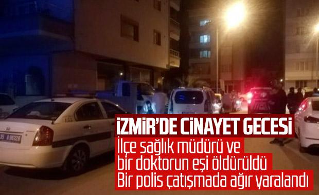 İzmir'de iki kişiyi öldüren şahıs, bir polisi de vurdu