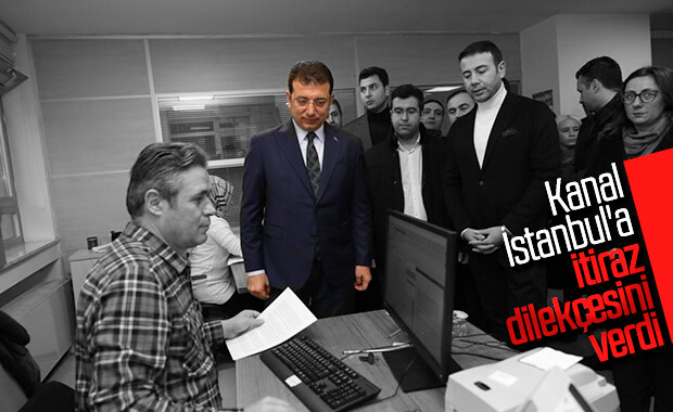 Ekrem İmamoğlu, Kanal İstanbul'a itiraz dilekçesini verdi