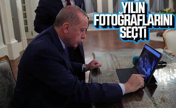 Erdoğan 'Yılın Fotoğrafları'nda oylarını kullandı