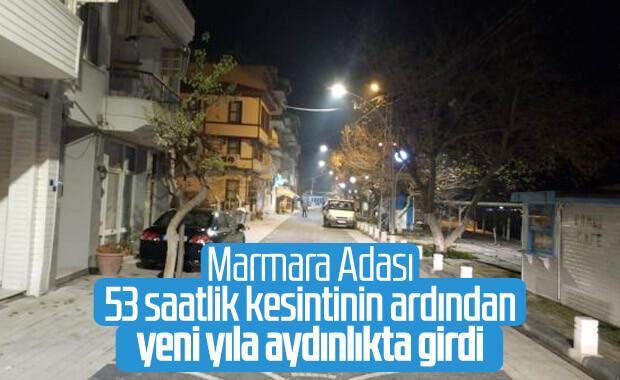 Marmara Adası saatler sonra yeniden aydınlandı