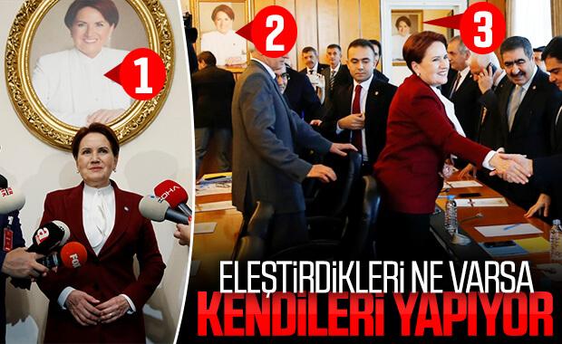 İyi Parti koridorlarında Akşener fotoğrafları